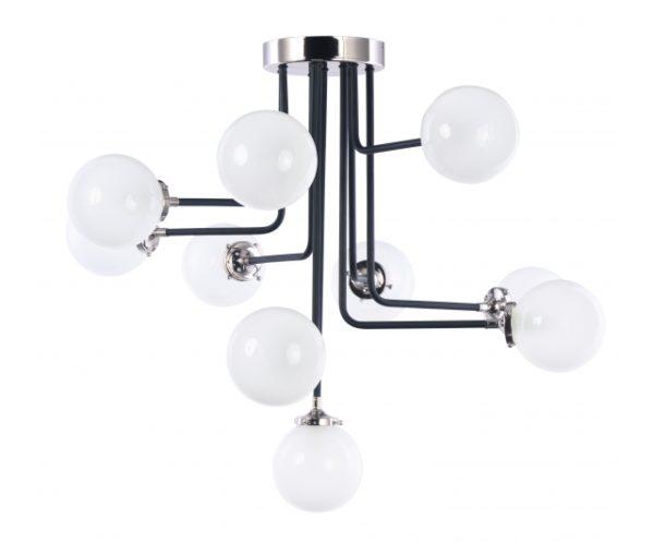 Atom 10-Light Flush Mount 992975WTBKPN maxim lighting
